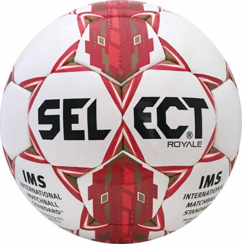 Select Royale NFHS Match Soccer Ball – White/Red