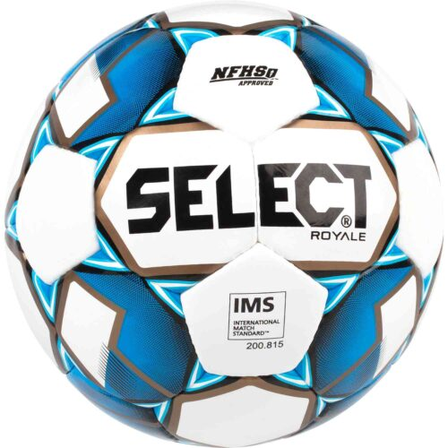 Select Royale NFHS Match Soccer Ball – White/Blue