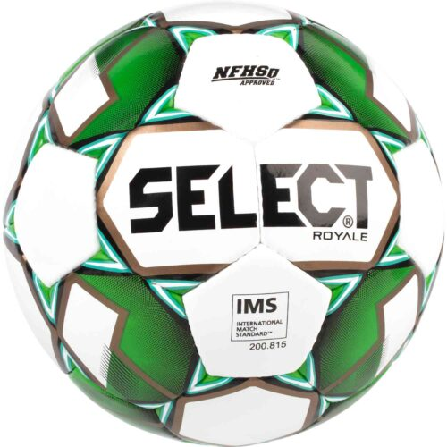 Select Royale NFHS Match Soccer Ball – White/Green
