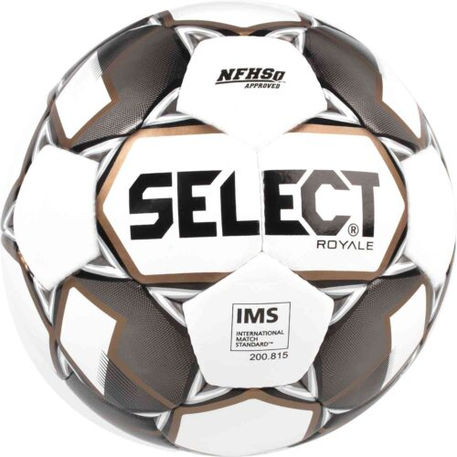 Select Royale NFHS Match Soccer Ball – White/Black
