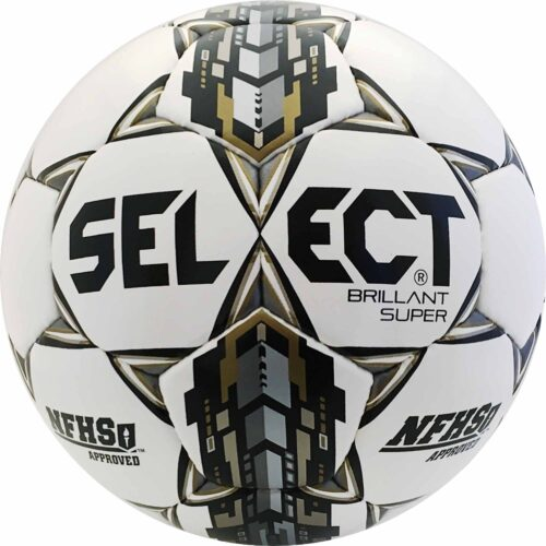 Select Brillant Super NFHS Match Ball – White/Silver/Gold