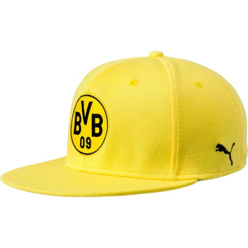 Borussia Dortmund Stretchfit Flat Bill Cap – Cyber Yellow/Black