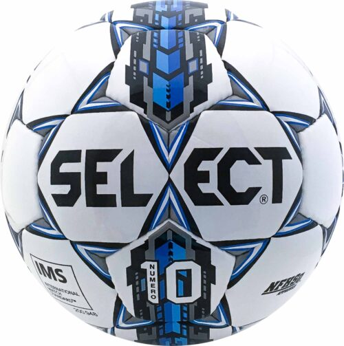 Select Numero 10 NFHS Soccer Ball – White/Royal Blue
