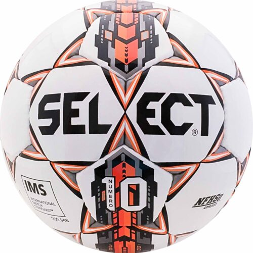 Select Numero 10 NFHS Soccer Ball – White/Orange