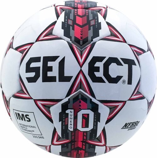 Select Numero 10 NFHS Soccer Ball – White/Red
