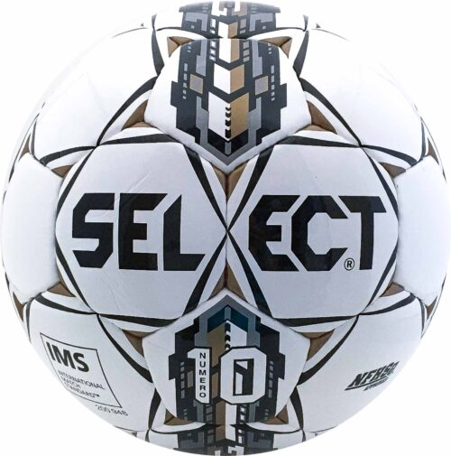 Select Numero 10 NFHS Soccer Ball – White/Black/Gold