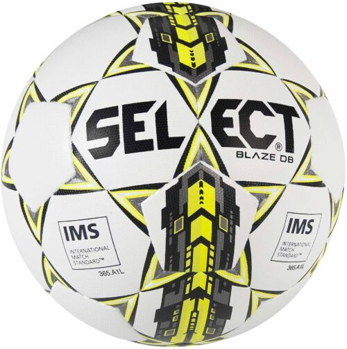 Select Blaze Dual Bonded NFHS Soccer Ball – White/Black/Yellow