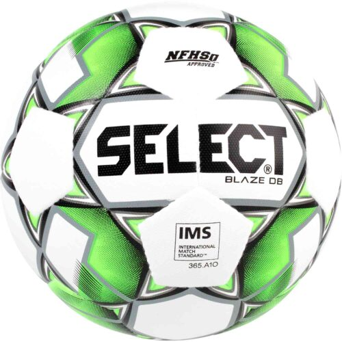 Select Blaze Dual Bonded NFHS Soccer Ball – White/Lime