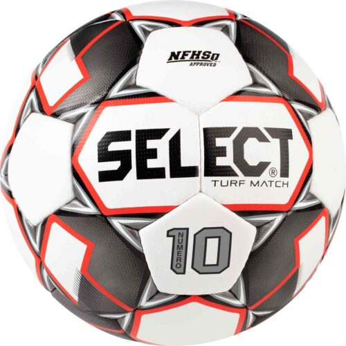 Select Numero 10 NFHS Turf Match Soccer Ball – White/black/Red