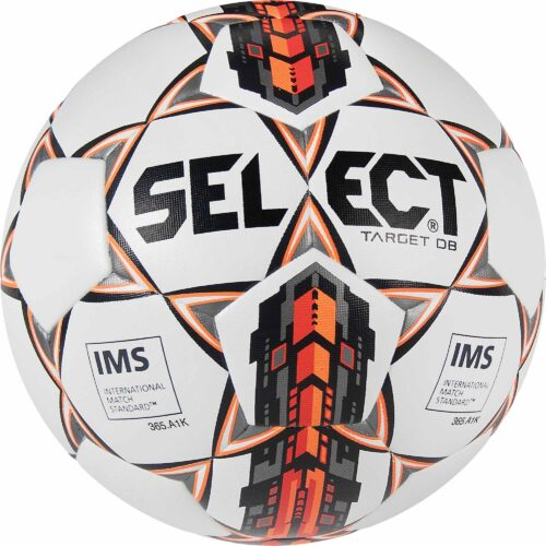 Select Target Dual Bonded NFHS Soccer Ball – White/Black/Orange