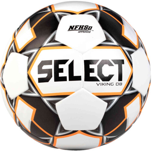 Select NFHS Viking DB v20 Match Soccer Ball – White & Black with Orange