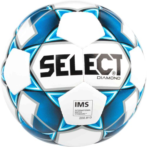 Select Diamond Soccer Ball – White/Blue