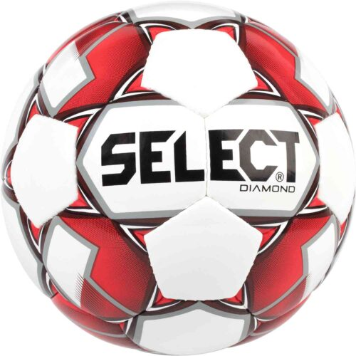 Select Diamond Soccer Ball – White/Red