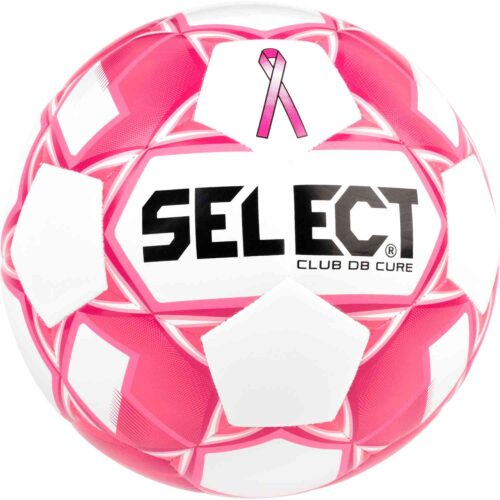 Select The Cure Club DB Soccer Ball – White/Pink