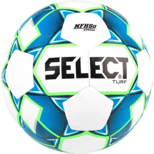 Select NFHS Turf Soccer Ball – White/Blue/Green