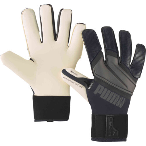 PUMA ULTRA Grip 1 Hybrid Pro Goalkeeper Gloves – Black