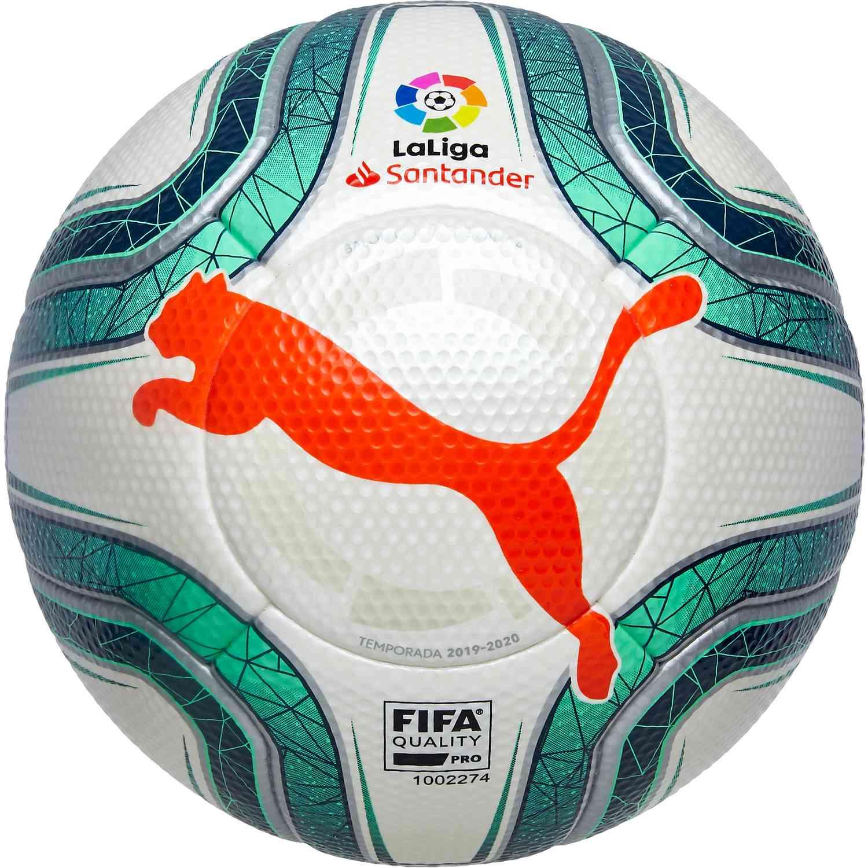Puma La Liga 1 Official Match Soccer Ball - White & Green Glimmer ...