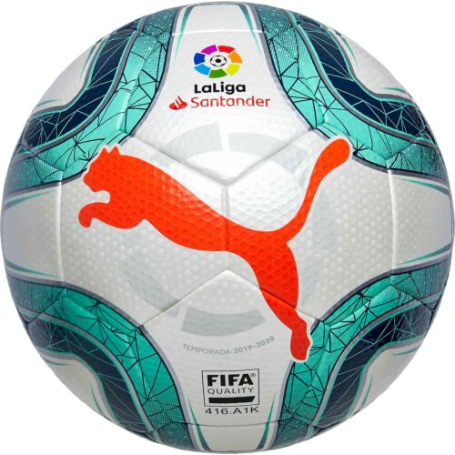 Puma La Liga 1 Soccer Ball – White & Green Glimmer