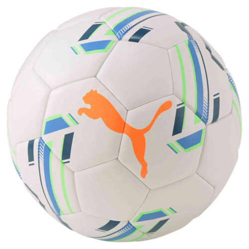 Puma Futsal 1 Pro Match Futsal Ball – White & Digi Blue with Shocking Orange