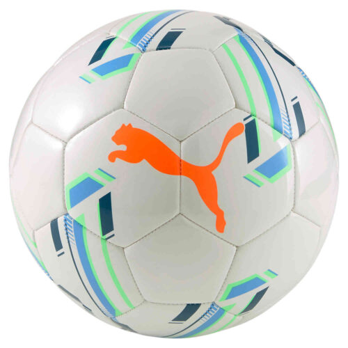 Puma Futsal 1 Trainer Futsal Ball – White & Digi Blue with Shocking Orange