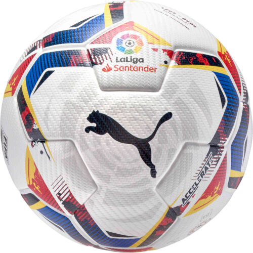 PUMA La Liga 1 Accelerate Official Match Soccer Ball – White & Multicolour