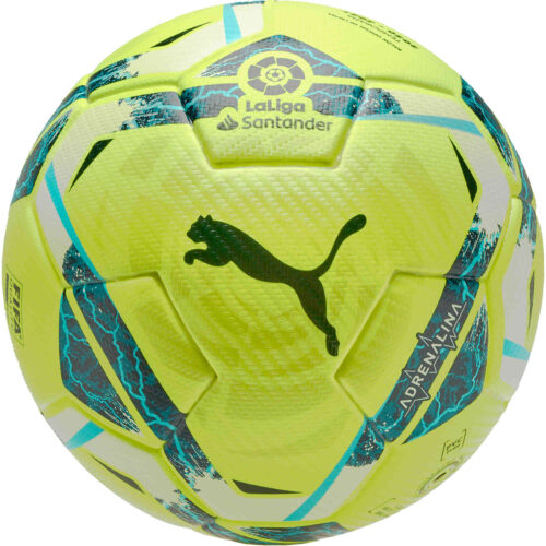 PUMA La Liga 1 Adrenalina Official Match Soccer Ball – Lemon Tonic