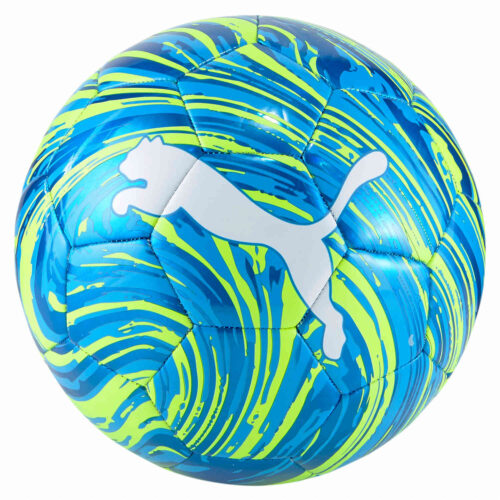 Kids Puma Shock Soccer Ball – Nrgy Blue & Yellow Alert