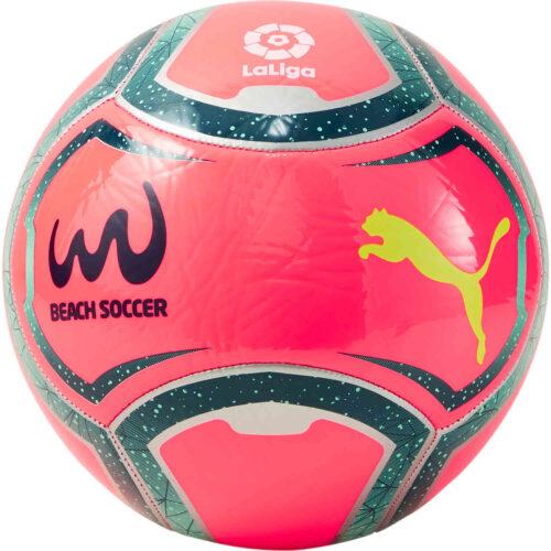PUMA Beach Soccer Ball – Pink Alert & Green Glimmer with Gibralter Sea