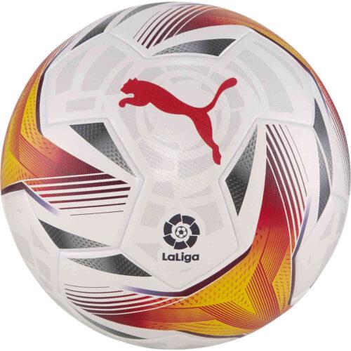 PUMA La Liga 1 Accelerate Soccer Ball – White & Multicolour