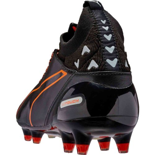 PUMA evoTOUCH Pro FG – Black/Shocking Orange