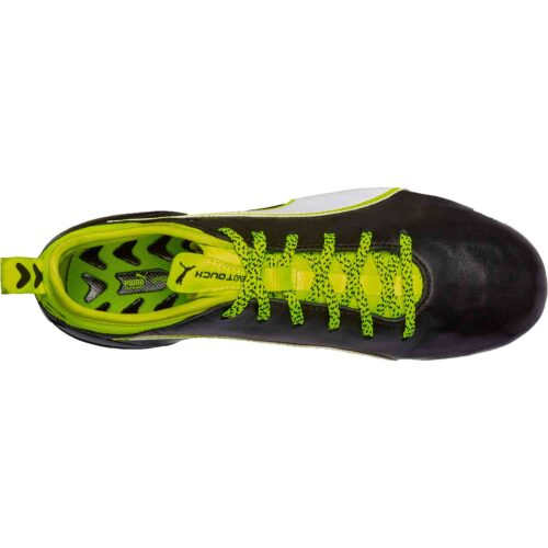 PUMA Kids evoTOUCH 1 FG – Black/Safety Yellow