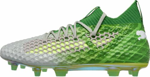 PUMA Future 18.1 Netfit FG – On/Off – Green Gecko/White