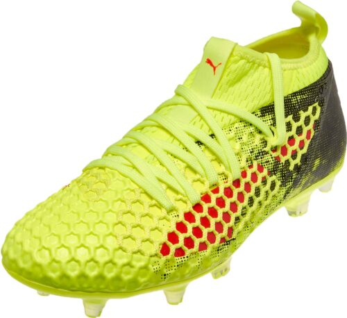 PUMA Future 18.2 Netfit FG – Fizzy Yellow/Red Blast
