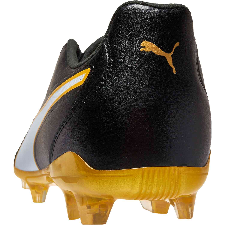 fdc766c6788 Puma Capitano II FG - Puma Black/Puma White/Gold - SoccerPro