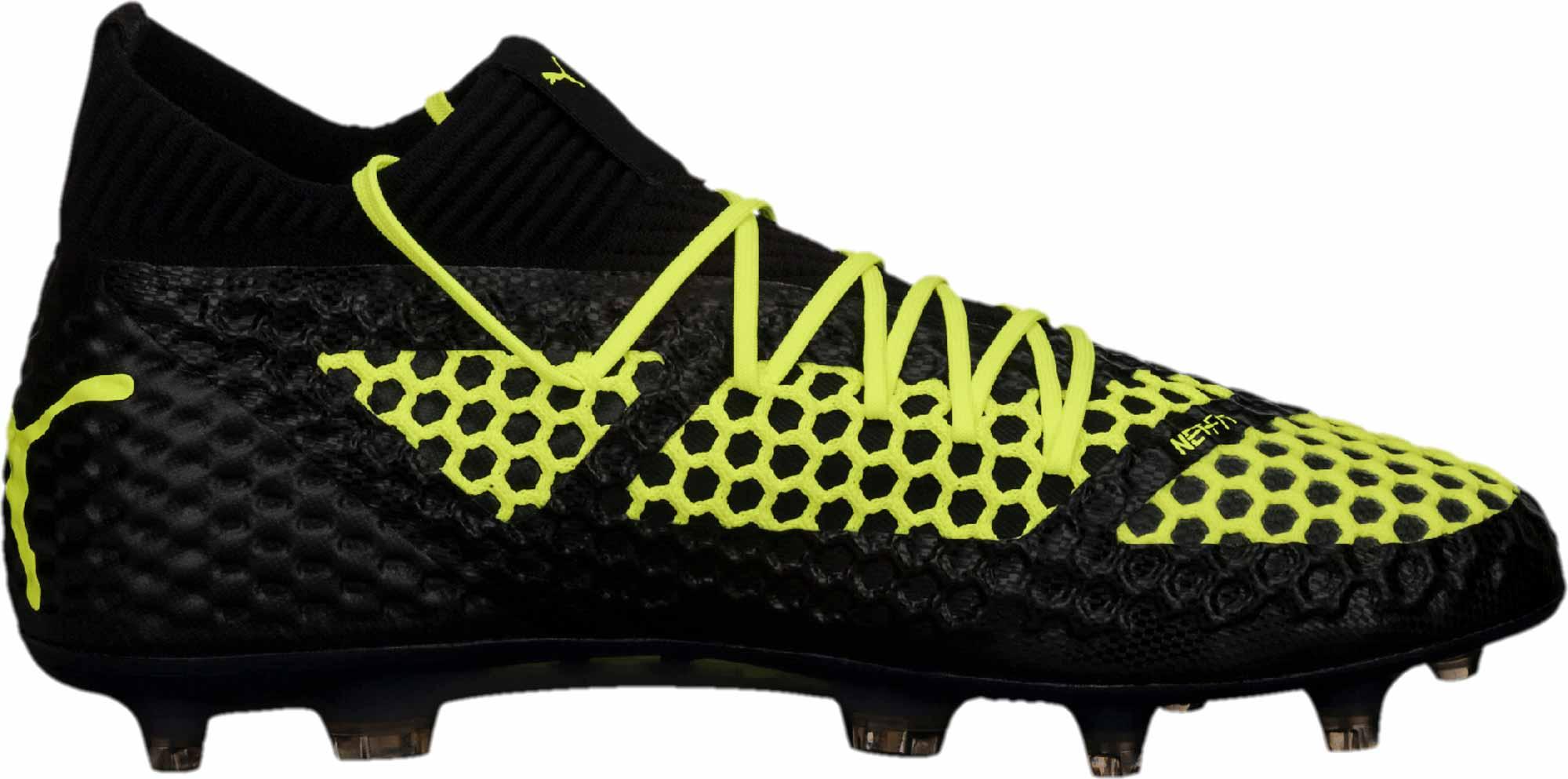 8f7067520a5 PUMA Future 18.1 Netfit FG - LE - Black Fizzy Yellow - SoccerPro
