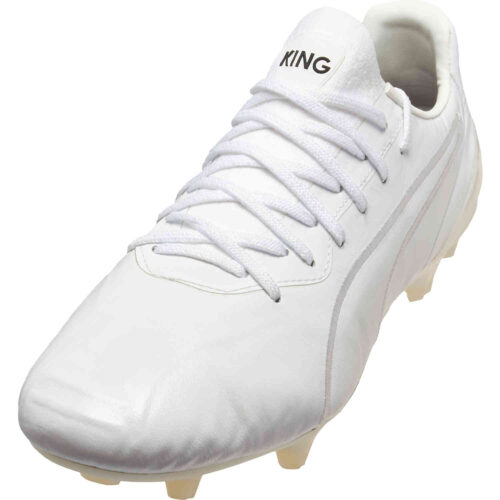 Puma King Platinum FG – Triple White