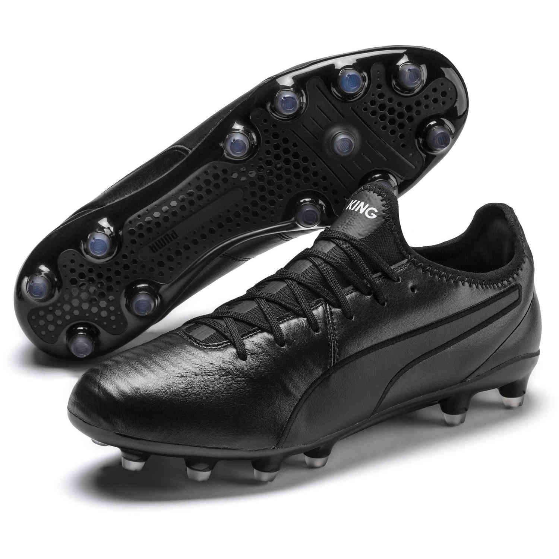 Puma King Pro FG - Triple Black - SoccerPro