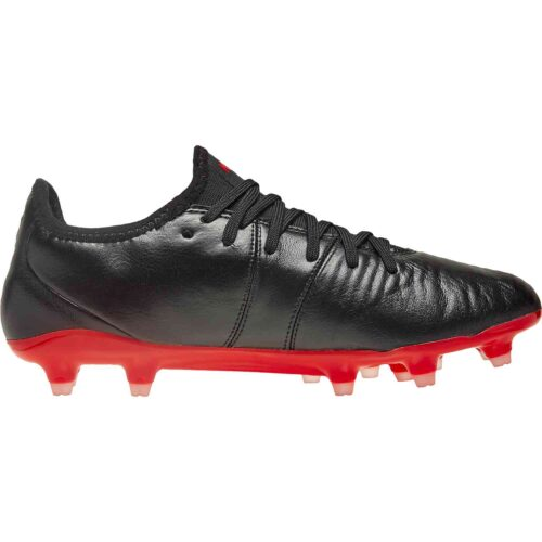 Puma King Pro FG – Black/High Risk Red