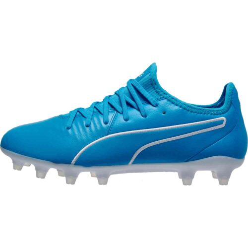 Puma King Pro FG – Luminous Blue/Puma White