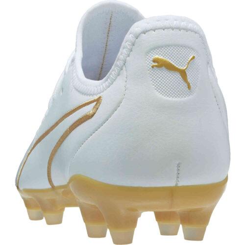 Puma King Pro FG – Puma White & Puma Team Gold