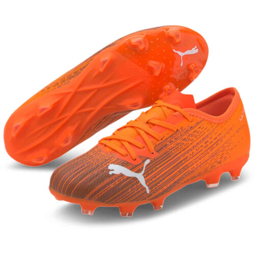 Kids Puma Ultra 2.1 FG – Shocking Orange & Black