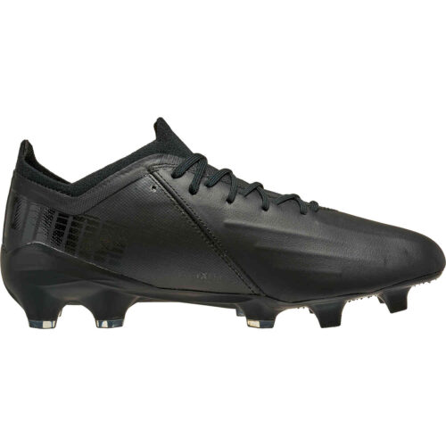 Puma Leather Ultra 1.1 FG – Black & White with Asphalt