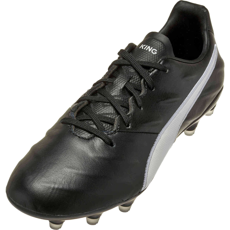 PUMA King Pro 21 FG - Black & White - SoccerPro