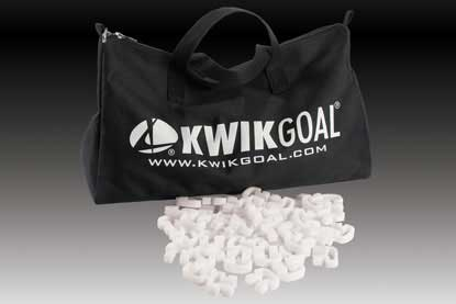 KwikGoal Kwik Lock Carry Bag & Net Clips – 500 Pack