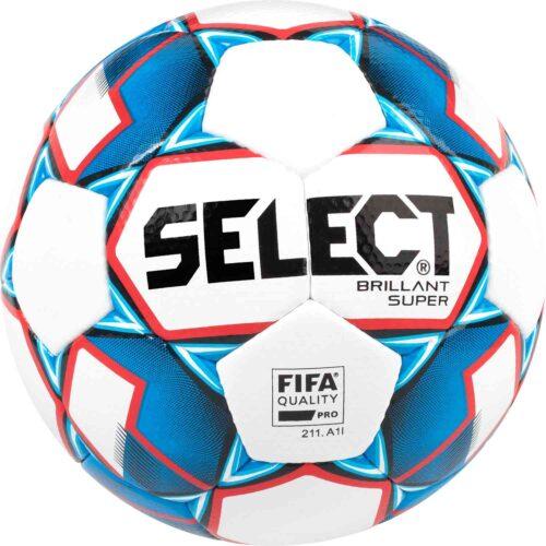 Select Brillant Super Premium Match Soccer Ball – White Blue Red d9d7339d78a7
