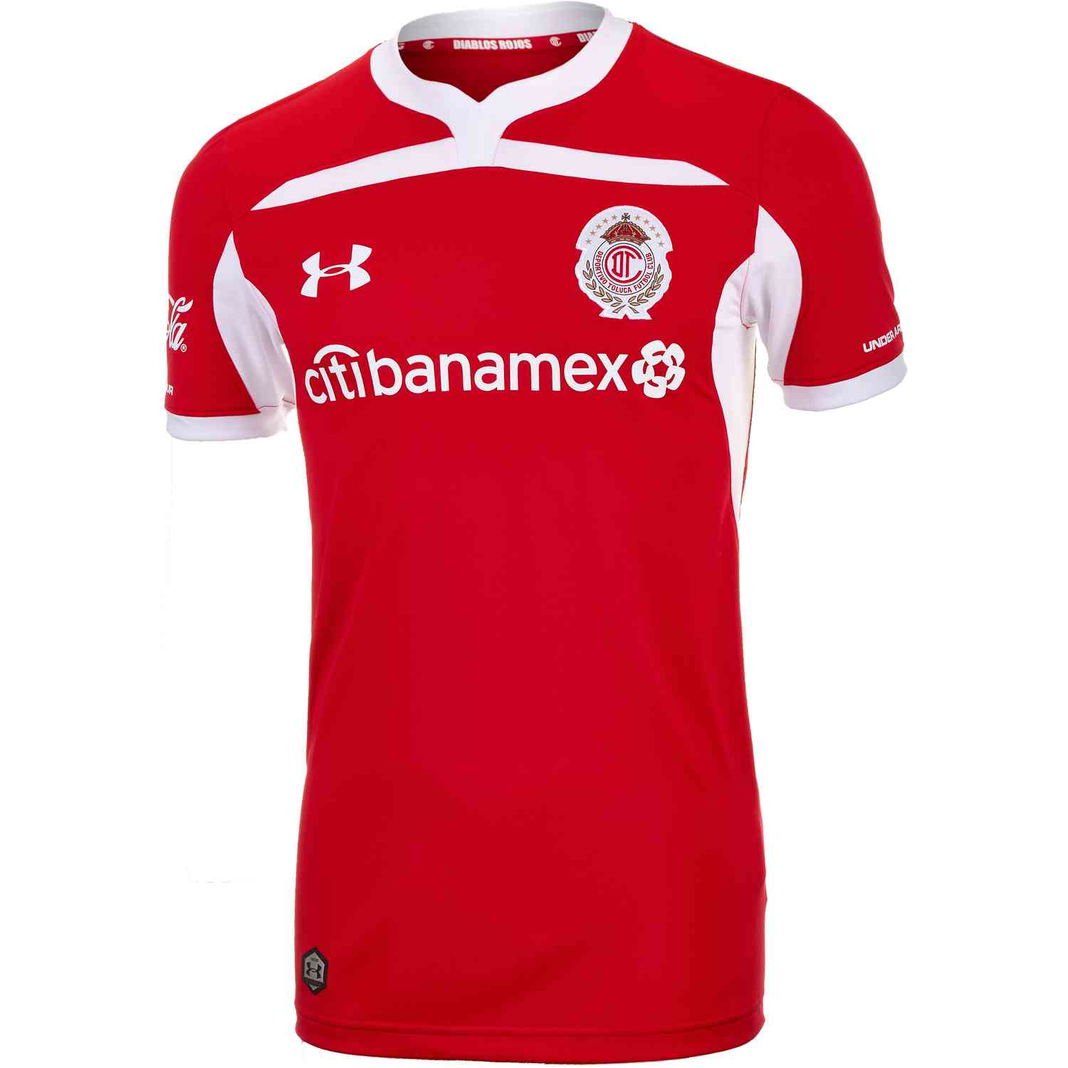2050744e9cc 2018/19 Under Armour Toluca Home Jersey - SoccerPro.com
