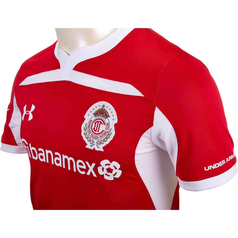 6edf086210b 2018/19 Under Armour Toluca Home Jersey - SoccerPro.com