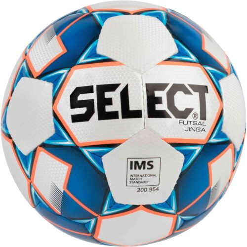 Select Jinga Futsal Ball – White/Blue/Orange