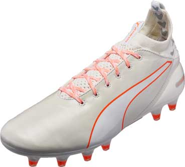 Puma evoTOUCH Pro FG - White & Shocking Orange