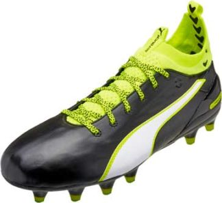 Puma evoTOUCH 1 FG - Black & Safety Yellow